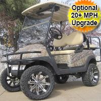 48V Real Tree Leaf Club Car Precedent Lifted Electric Golf Cart