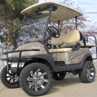 48V Real Tree Leaf Club Car Precedent Lifted Electric Golf Cart