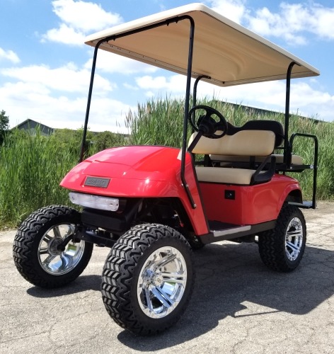 13 HP Kawasaki EZ-GO Red 4 Seater Gas Golf Cart Lifted With Extended Fast Golf Carts With Hp Engine on fast golf tdi, fast gas golf carts, fast go kart engines, fast golf swing, fast golf cartoon, fast golf game, fast ford engines, fast street-legal golf carts, fast honda engines, fast golf speed carts,