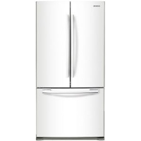 Samsung RF18HFENBWW Refrigerator 18 Cu. Ft. Counter Depth French Door Bottom Freezer Fridge - White - Scratch/Dent