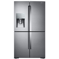 Samsung RF22K9381SR Refrigerator 22.1 cu. ft. 4-Door Flex Food Showcase French Door Refrigerator in Stainless Steel Counter Depth Fridge - Scratch/Dent