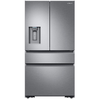 Samsung RF23M8070SR Refrigerator 22.6 cu. ft. 4-Door French Door with Recessed Handle in Stainless Steel Counter Depth Fridge - Scratch/Dent