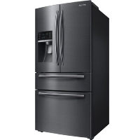 Samsung RF25HMEDBSG Refrigerator 24.73 Cu. Ft. 4-Door Flex French Door Refrigerator - Fingerprint Resistant Black Stainless Steel - Scratch/Dent