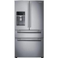 Samsung RF25HMEDBSR Refrigerator 24.73 cu. ft. 4-Door French Door Fridge - Stainless Steel - Scratch/Dent