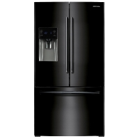 Samsung RF263BEAEBC Refrigerator 26 cu. ft. French Door w/ External Water & Ice Dispenser Fridge - Black - Scratch/Dent