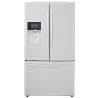 Samsung RF263BEAEWW Refrigerator 24.6 cu. ft. French Door Fridge - White - Scratch/Dent