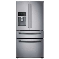 Samsung RF28HMEDBSR 28 Cu Ft Stainless Steel 4 Door French Door Refrigerator - New w/Tiny Cosmetic Blemish