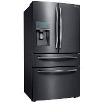 Samsung RF28JBEDBSG Refrigerator 27.8 cu. ft. Food Showcase 4-Door French Door Fridge - Fingerprint Resistant Black Stainless - Scratch/Dent
