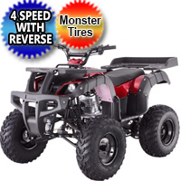 "250cc Rhino 250 Atv Four Wheeler Quad Full Size Big 23"" 22"" Tires"