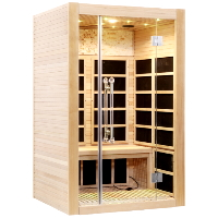 2-3 Person FAR Infrared Sauna Canadian Hemlock - Romantic 2 Person