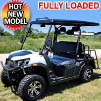 Gas Golf Cart Utility Vehicle UTV Rancher 200 EFI With Automatic Trans. & Reverse - RED