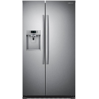 Samsung RS22HDHPNSR Refrigerator 22.3 Cu. Ft. Side-by-Side Counter-Depth Refrigerator with In-Door Ice Maker - Silver - Scratch/Dent