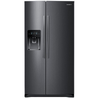 Samsung RS25J500DSG Refrigerator 24.5 cu. ft. Side by Side Refrigerator in Fingerprint Resistant Black Stainless Fridge - Scratch/Dent