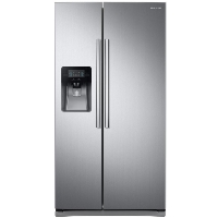 Samsung RS25J500DSR Refrigerator 24.5 cu. ft. Side by Side Fridge in Stainless Steel - Scratch/Dent