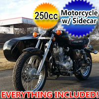 250cc Motorcycle with Sidecar RTD Road Cat