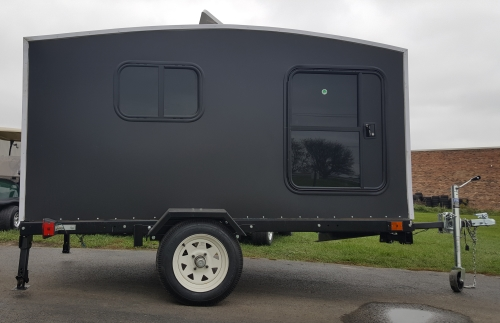 Camper Trailer Mini Camper Toy Hauler Wonadaygo 4 X 8 Black 1 2