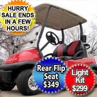 Red 48v Electric Golf Cart Club Car Precedent with Custom Black and Red Seats