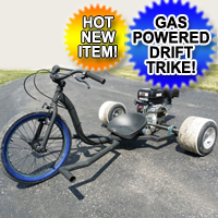 Renegade Gas Powered Drift Trike 6.5 Motorized Wide Edition