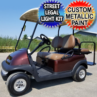 48V Root Beer Colored Club Car Precedent Electric Golf Cart