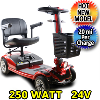Mobility Scooter Street Eater 250 Watt 24v Electric Powered Four Wheeled Scooter