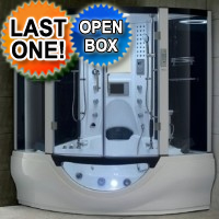 Brand New Black Steam Shower/Whirlpool Bathtub with Massage