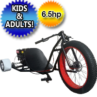Brand New Gas Powered Drift Trike with 6.5 HP Engine