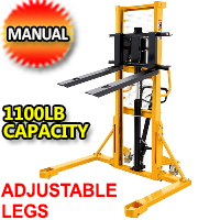"""Straddle legs. 1100lbs Cap. 63"""" Lift Height - SDJAS500"""