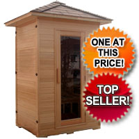 1-2 Two Person Canadian Hemlock Outdoor FIR Infrared Sauna