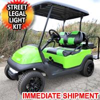 48v Electric Club Car Precedent Golf Cart Slimer Edition With Custom Rims Lights Seats & More