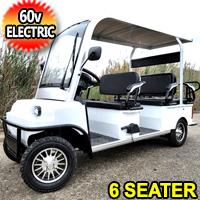 Electric Golf Cart Limo LSV Low Speed Vehicle Six Passenger - 60v Skyline Transporter