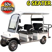 6 Seater Electric Golf Cart Limo LSV Low Speed Vehicle Six Passenger - 60v Skyline Transporter