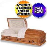 Solid Wood Casket - Solid Oak Wood