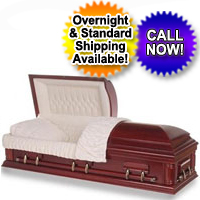 Solid Wood Casket - Cherry Wood