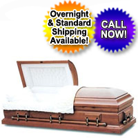 Solid Wood Casket - Italian Solid Poplar Wood