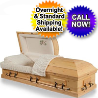 Solid Wood Casket With Pine Finish