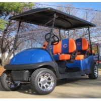 Sports Themed 6 Passenger Club Car Limo Golf Cart - Pick Your Own Team