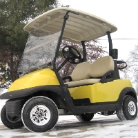 48V Club Car Precedent Golf Cart - Sun Shine Edition