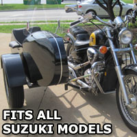 Euro RocketTeer Side Car Motorcycle Sidecar Kit - All Suzuki Models