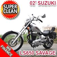 2002 Suzuki LS650 Savage 650cc Motorcycle Cruiser SUPER CLEAN Bike - EXCELLENT CONDITION