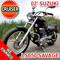 2002 Suzuki Savage 650 LS Motorcycle Only 9,000 Miles! Great Runner!