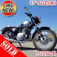 2017 Suzuki TU250 X Motorcycle SUPER CLEAN Cafe Cruiser Style Bike - LIKE NEW - EXCELLENT CONDITION