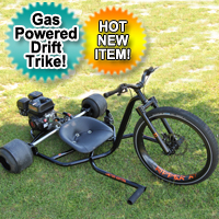 Gas Powered Drift Trike Tricycle Bike Road Ripper R1 Motorized Big Wheel