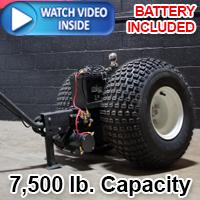 Brand New High Quality Heavy Duty Powered Motorized Trailer Dolly - 7500lb Capacity - Iron 7.5k