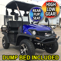 4 Seater Utility Golf Cart Gas TrailMaster Taurus 200 MFV UTV 200cc Utility Vehicle Four Seater w/ High Low Gear - Rear Flip Seat & Dump Bed Included!
