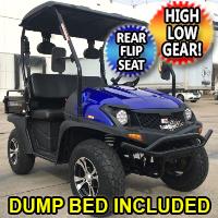 4 Seater Utility Golf Cart Gas TrailMaster Taurus 200 MFV UTV 200cc Utility Vehicle Four Seater w/ High Low Gear - Rear Flip Seat & Dump Bed Included!