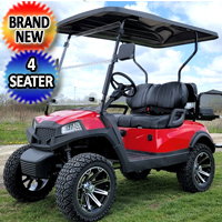 Terminator 48v Electric Golf Cart Four Seater BRAND NEW - Massive Rims/Tires Flip Seat & Optionally Fully Loaded