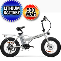 SSR 500 Watt Folding Fat Tire Electric Bike - Trail Viper 500w