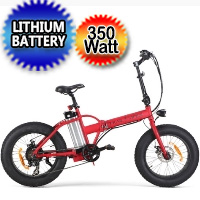 SSR 350 Watt Folding Fat Tire Electric Bike - Trail Viper