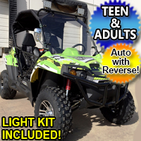 TrailMaster Challenger X 150cc UTV Utility Vehicle w/ Light Kit