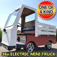 Electric Golf Cart Red Rebel 36V Truck